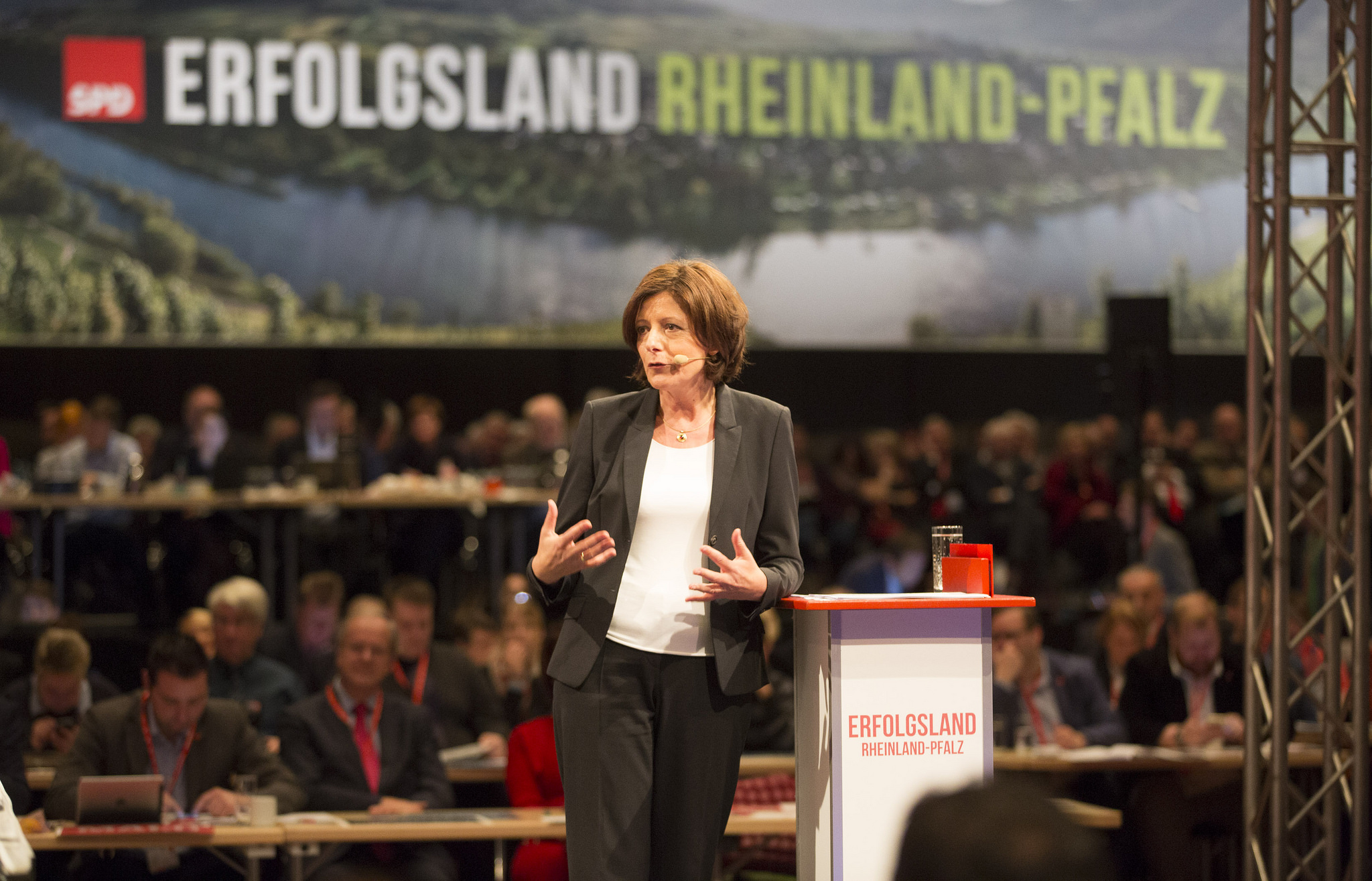 Malu Dreyer SPD-Landesparteitag 20115