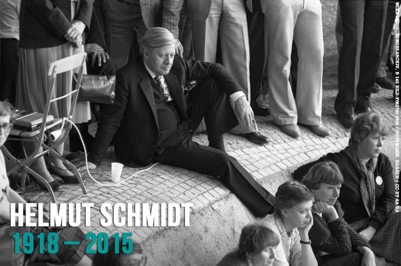 In Gedenken an Helmut Schmidt