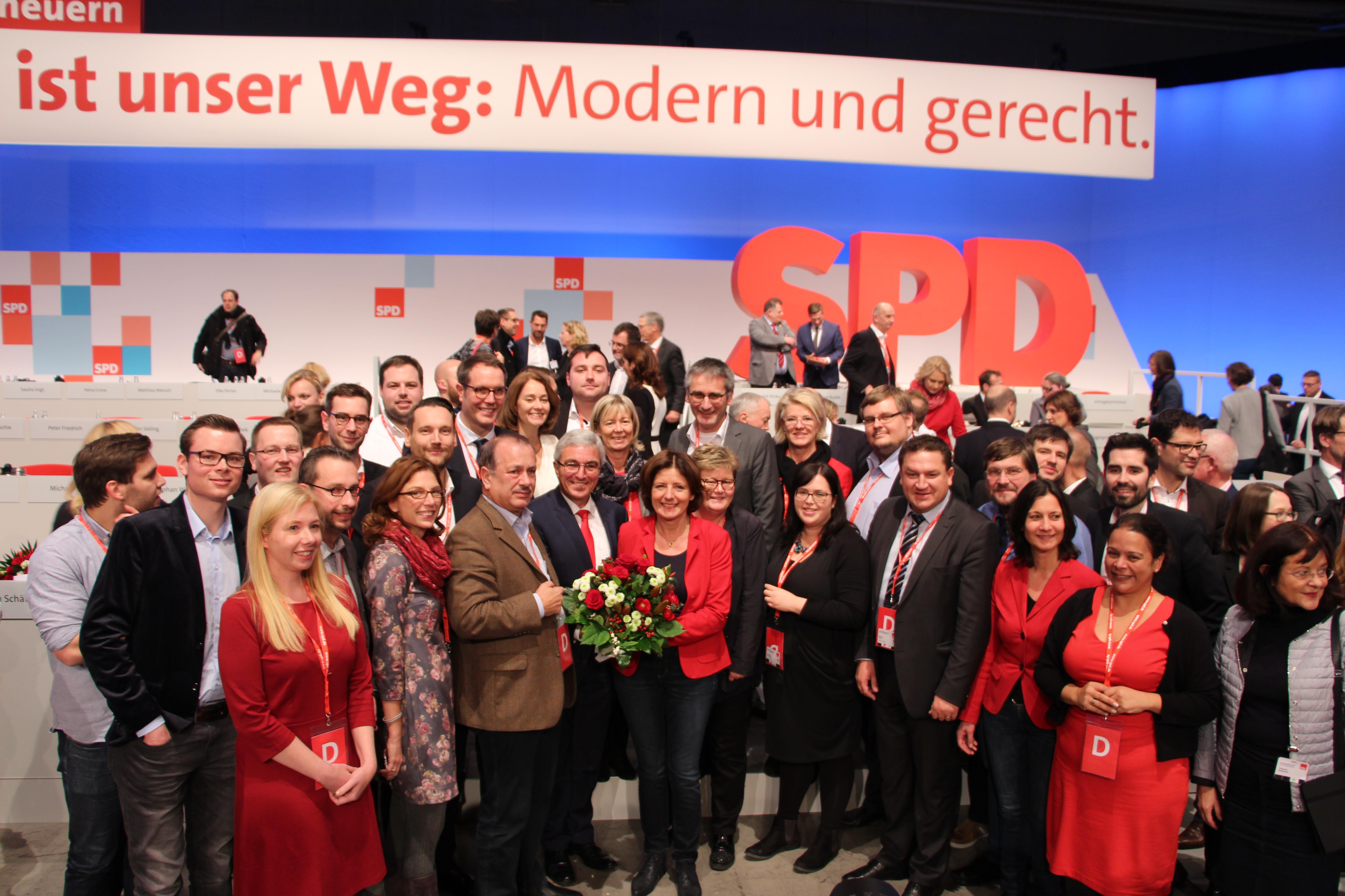 Malu Dreyer als stellvertretende SPD-Vorsitzende gewählt!
