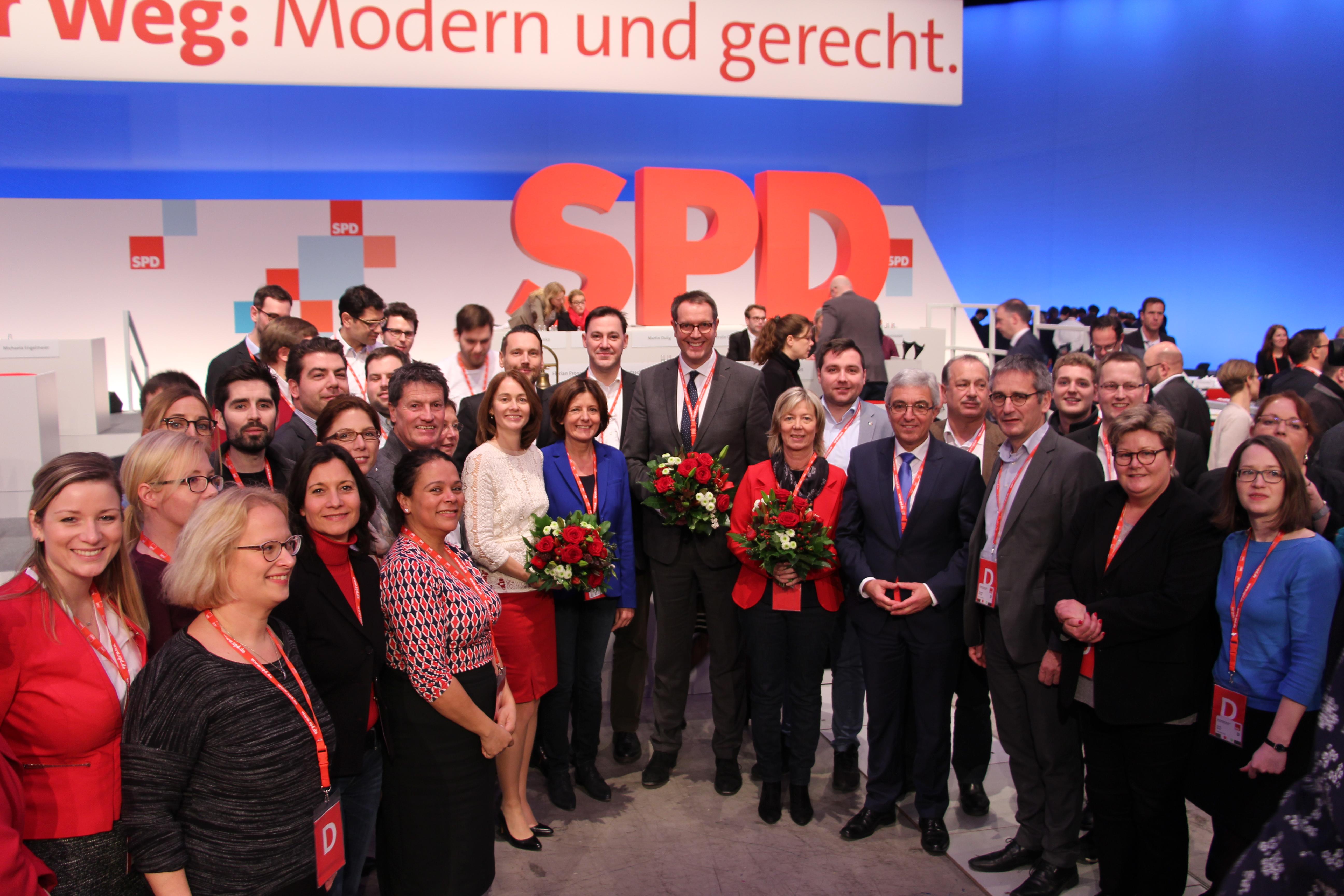 SPD Rheinland-Pfalz im Parteivorstand stark vertreten