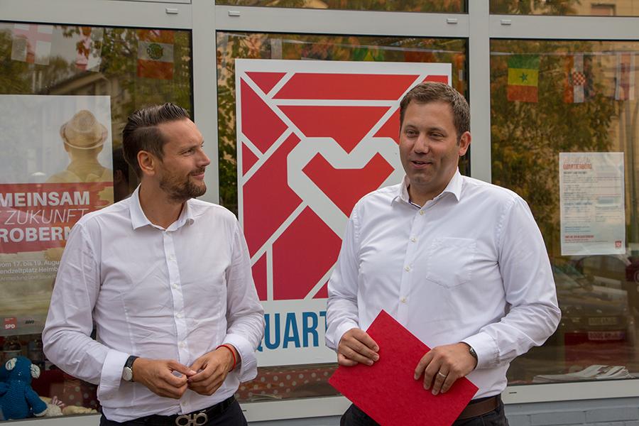 Lars Klingbeil von Quartierbüro überzeugt