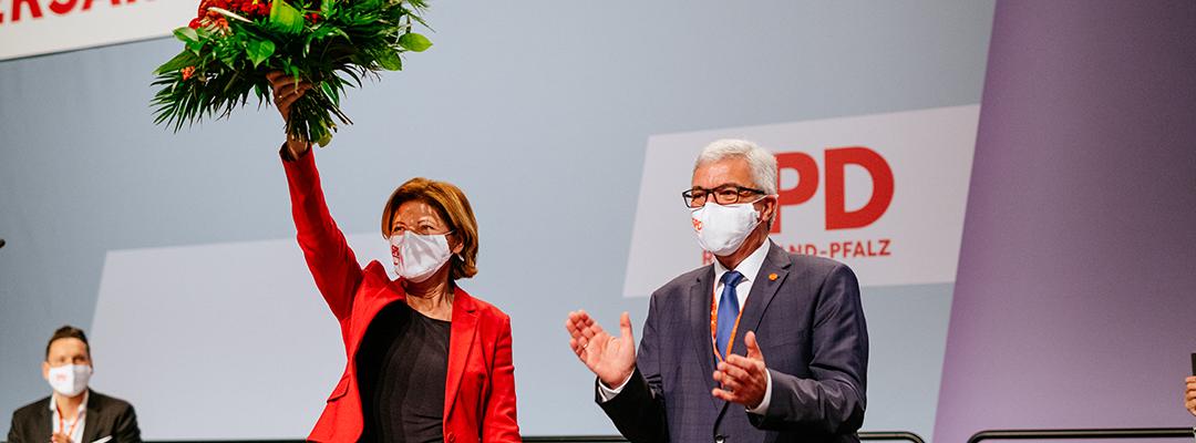 Malu Dreyer mit Spitzenergebnis zur Spitzenkandidatin gewählt