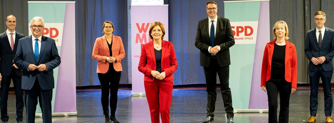 SPD Rheinland-Pfalz stellt Regierungsteam vor