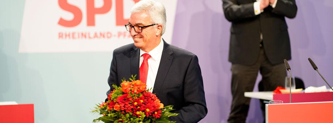 Roger Lewentz mit starkem Ergebnis als Landesvorsitzender wiedergewählt